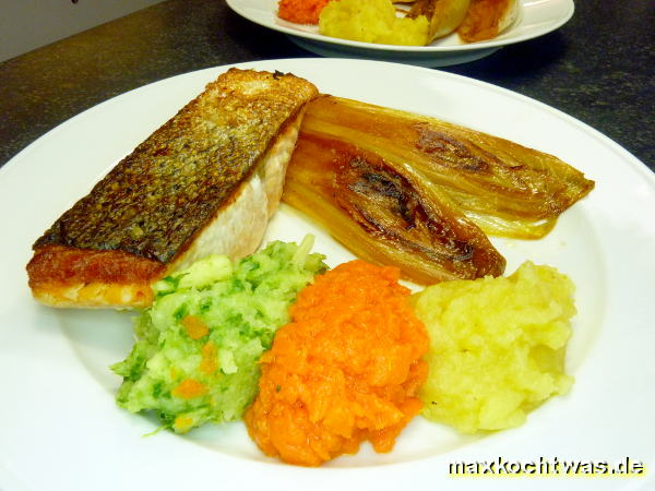 Lachs mit kandiertem Chicoree